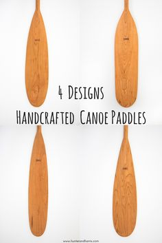 Hunter and Harris creates beautiful handmade solid cherry wood canoe paddles in four different designs so there is something for everyone! Kayak Paddle, Canoe And Kayak, Canoe Paddles, Shallow Water Boats, Wood Canoe, Free Boat Plans, Wooden Boat Plans, Wood Boats, Kayaking