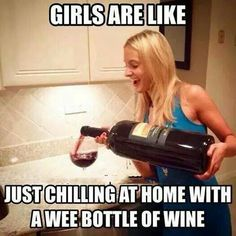 "Girls be like "" Let's chill over a bottle of wine! Wine Jokes, Wine Funnies, Cheers, Coffee Wine, Wine Wednesday, In Vino Veritas, Wine Time, Wine And Beer, Wine Making"