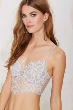 SKIVVIES Penelope Lace Longline Bra | Shop Clothes at Nasty Gal!