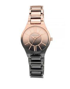 ANNE KLEIN - Rose Gold & Black Gradient Watch
