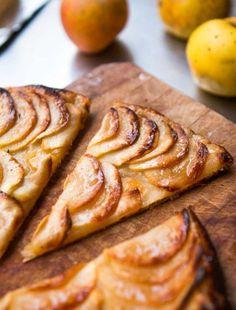 French Apple Tart: Tarte fine aux pommes - David Lebovitz Round Cake Pans, Round Cakes, Red Currant Jam, French Apple Tart, Tarte Fine, David Lebovitz, Oven Canning, Pastry Blender, Fresh Apples