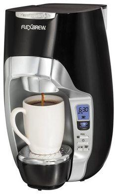 Hamilton Beach - FlexBrew 1-Cup Coffeemaker - Black/Silver, 49996