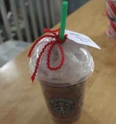 Clever way to give a Starbucks gift card