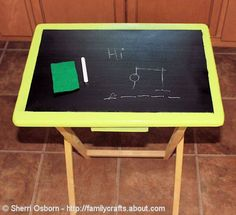 How to Recycle a TV Tray Into a Chalkboard