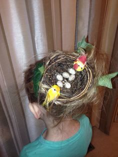 Crazy hair day at school.