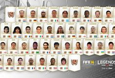 Here's a look at the exclusive FIFA 14 Ultimate Team Legends.. on Xbox One, which won't be available on PS4. Microsoft are really going at it aren't they?