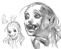 Rika's diary, doodle, comic and ideas Fantasy Character Design, Character Design Inspiration, Character Art, Arte Horror, Horror Art, Arte Obscura, Art Reference Poses, Creature Design, Art Tutorials