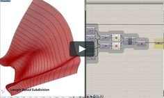A quick video demonstrating the parametric process of design rationalization and generating fabrication information from a design model using Rhino, Grasshopper,…