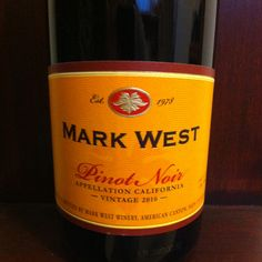 It's been a while since i've had this, but love Mark West Pinot Noir