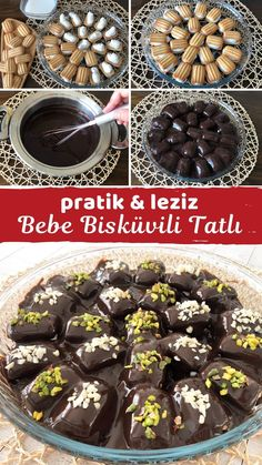Turkish Sweets, Turkish Delight, Desert Recipes, Sweet Recipes, Recipies, Deserts, Food And Drink, Chocolate, Baking