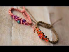 pulsera en macrame con degradado | macrame bracelet - YouTube