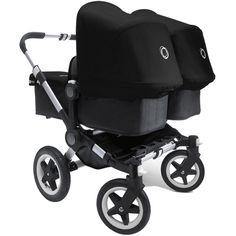 Bugaboo Donkey Twin Stroller in Black/Black
