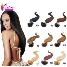 Hot Selling Fusion Prebond U Tip Keratin Hair Extension 0.5g/strands Nail Hair Extensions 100s/pack 18 Colors U Tip Hair Human