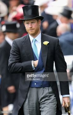 Prince Harry arrives in the parade ring at Royal Ascot 2016 at Ascot Racecourse on June 14, 2016 in Ascot, England.
