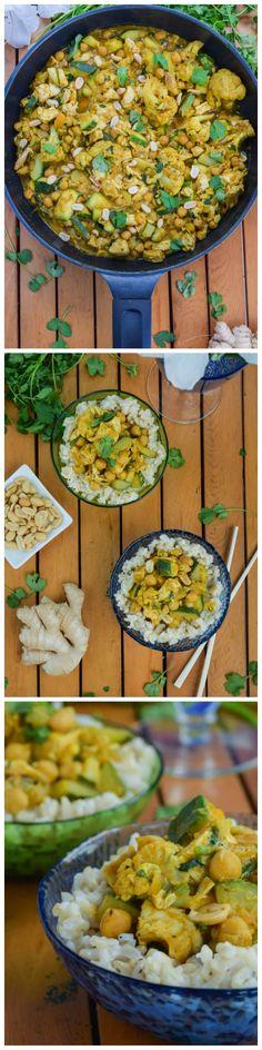 Thai Pumpkin Chicken Curry & Coconut Ginger Brown Rice
