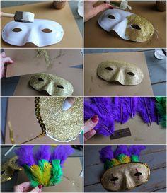 homemade diy mardi gras decorations | DIY Mardi Gras Mask #diy #mardigras #halloween