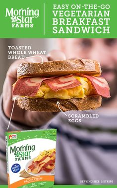 Breakfast Recipes Morningstar Farms - Morningstar Farms Breakfast Recipes Tons Of Tasty Ideas You Can Bring To The Table From Big Family Brunches To Out The Door Sandwiches Breakfast Maple Sausage Breakfast Sandwich Recipe Spi Vegetarian Breakfast, Best Breakfast, Vegetarian Recipes, Snack Recipes, Cooking Recipes, Healthy Recipes, Sausage Breakfast, Breakfast Sandwich Recipes, Different Recipes
