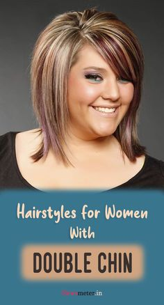 Double Chin Hairstyles, Hairstyles For Fat Faces, Haircuts For Thin Fine Hair, Short Hair Styles For Round Faces, Short Hair With Layers, Long Hair Styles, Medium Bob Hairstyles, Modern Hairstyles, Hairstyles For Fine Hair