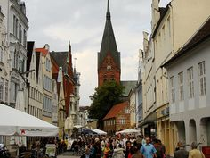 The Flensburg city, Germany