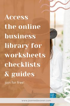 Access a free library of checklists, guides and worksheets for your small business. Free Library, Worksheets, Online Business, Web Design, Design Web, Literacy Centers, Website Designs, Site Design