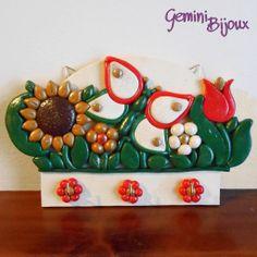 Appendi strofinacci su base in legno con decorazione in fimo, by Gemini Bijoux, 20,00 € su misshobby.com
