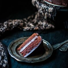 This dark chocolate layer cake is soft and irresistible. And its egg free!