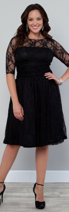 Plus Size Black Luna Lace Cocktail Dress. I AM buying this on Friday!!!