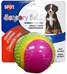 Our puppy loves this thing ... When she's not begging us to toss it or playing keep away she's chewing on it happily  (  She's beyond hyper so boy is it nice when she finally settles down !! )  Best 5.00 bucks ever spent and this one she doesn't seem t...