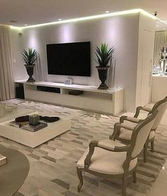 40 tv wall living room ideas decor on a budget 2 Living Room Decor Cozy, Living Room Tv, Home And Living, Cozy Living, Dining Room, Tv Wall Design, Design Case, House Design, Muebles Living