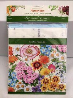 """Sunshine Flower Mix Flower Seed Mat - 18""""""""/1100 Seeds"""