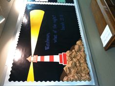 Lighthouse bulletin board