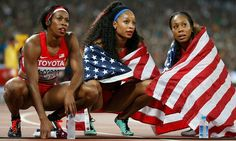 World Athletics Championships 2015: day nine – in pictures   Sport   The US team looks disappointed after winning silver in the women's 4x400m