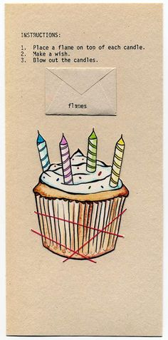 Conceptual Birthday Cake Card Long Distance
