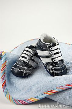 image photo : Baby Blanket and Shoes