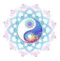 Arte Yin Yang, Yin Yang Art, Ambiance Sticker, Yin Yang Tattoos, Fu Dog, Mandalas Drawing, Design Floral, Deco Boheme, Mural Wall Art
