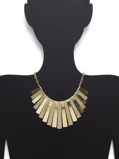 Sparkling Sage Gold Bib Necklace