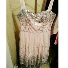 Blush Sequin Dress Lovely pink twirl dress. Sparkly. Comfortable. Under Linen. I love this dress! Dresses