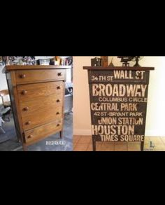Awesome dresser DIY makeover