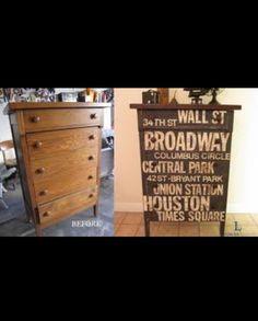 Awesome dresser DIY makeover