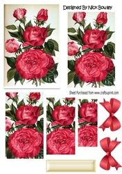 Pretty red roses with bow pyramids on Craftsuprint - View Now!