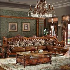 Buy Living Room Furniture, L-Shape Sofa, Leather, living room sofa set at Nofran Furnitures Antique Living Rooms, Leather Living Room Furniture, Living Room Sofa, Sofa Furniture, Furniture Styles, Wooden Dining Table Modern, Black Dining Room Sets, Wooden Mantel, Wooden Fireplace