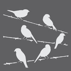 картинки для вырезания птички сидят на проводе обитающие
