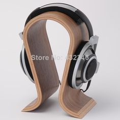 Cheap headset stand, Buy Quality headphone stand directly from China wooden headphone stand Suppliers: 2018 Wooden Headphone Stand U Shape Headphone Holder Classic Walnut Finish Headset Stand Hanger for Home Office Studio Bedroom Headset Holder, Headphone Holder, Headphone Storage, Best In Ear Headphones, Hanger Stand, Hanger Rack, Fashion Displays, Head Stand, Gaming Headset