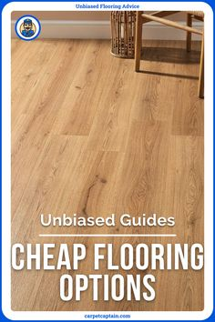 On a budget but want new flooring? I've ranked the cheapest floors. This means the cheapest to buy, but also takes into account long-term costs. After all, a floor isn't that cheap if it's damaged in a year or requires expensive maintenance. Cheap Flooring Options, Types Of Wood, Hardwood Floors, Budget, How To Make, Ideas, Wood Types, Wood Floor Tiles, Wood Flooring
