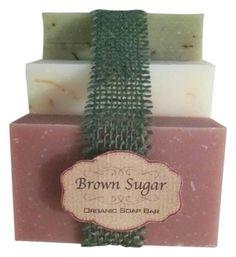 Brown Sugar Beauty Set of 3 Organics Bar Soaps: Peppermint, Pink Grapefruit & Blood Passion Citrus & Bergamot