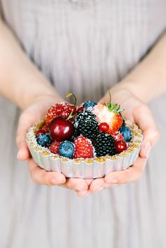 Summer's here and we have a lot of berries – we like them especially in tartlets with vanilla cream!