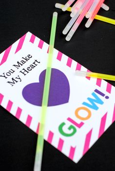 Tweet Pin It Last week I gave you a Valentine's idea and printable-You Make My Heart Pop! This week I am giving you something similar, but this time, You Make My Heart Glow-with glow sticks! Another very quick and easy Valentine's idea with printable: My kids LOVE glow sticks! Do yours? That's why I … [Read More…]