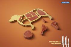 Facas Tramontina by Miagui Imagevertising , via Behance