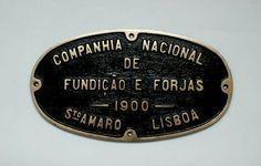 'Fundição de Sto Amaro/Oeiras' Steel Plate via Fundação Museu Nacional Ferroviário FMNF (PT) - Railway/Train National Museum