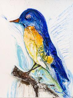 "30""x40"" - Acrylic on Canvas - Nature Series: Bird - Artist, Justin Gaffrey"